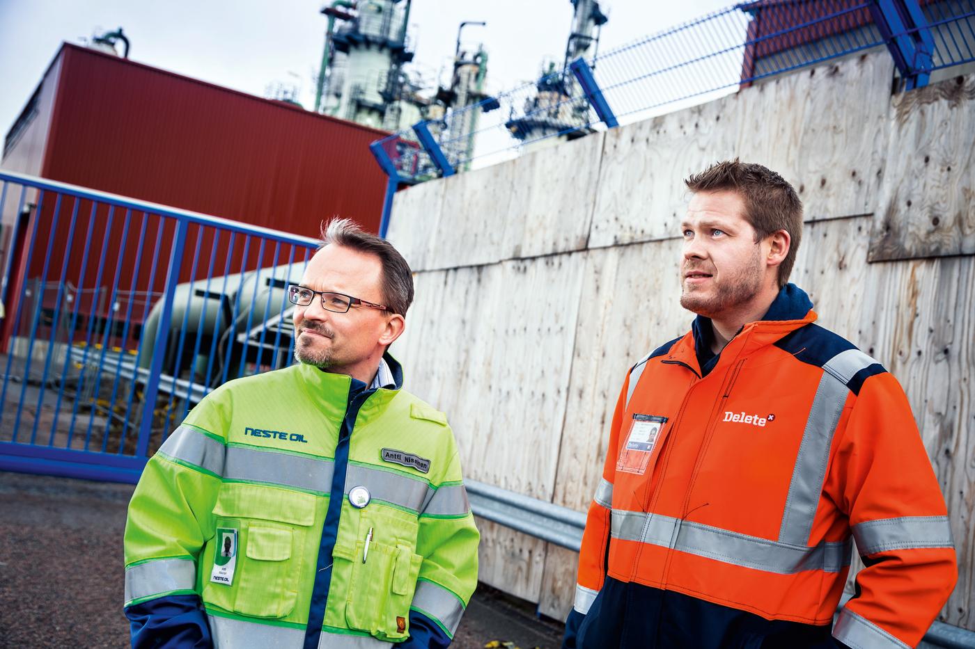 Deletes projektledare samtalar med ansvarig på Neste Oil.