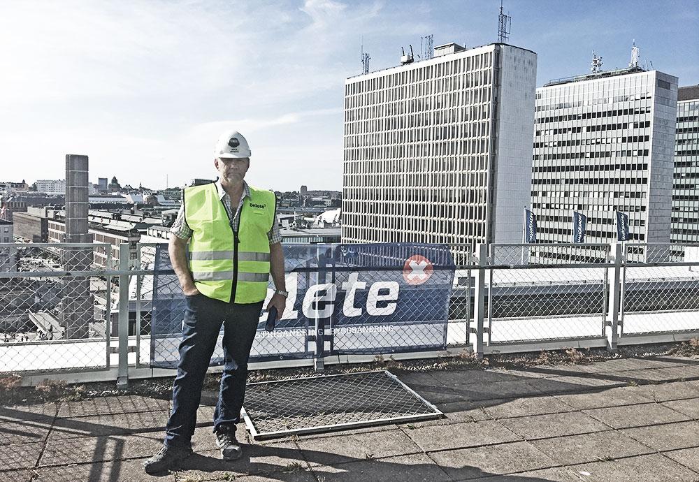 Mika Myntti Platschef Delete på SEB-huset
