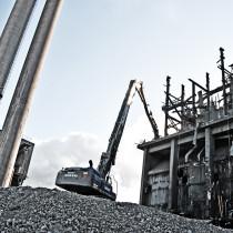 Deletes höjdrivare vid släcktornet på SSAB i Luleå