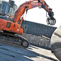 Delete sorterar rivningsmassor på SSAB Luleå