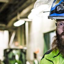 Liam Habbershaw arbetsledare på rivning Umeå Delete