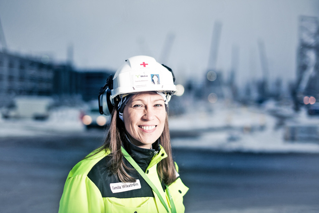 Camilla Wikström på Metsä Fibre