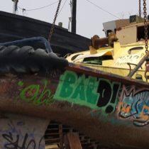 Fartyg blir kuliss på paintballplan - Delete