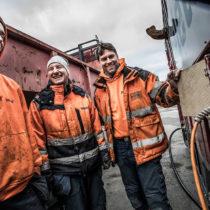 Glada miner på operatörsutbildningen Delete Sölvesborg